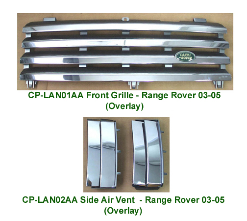 03 Range  Front Grille & Side Air Vents-w-description