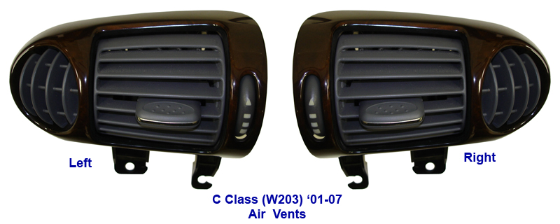C Class (W203) Lamination Burlwood-Air Vents-1-done