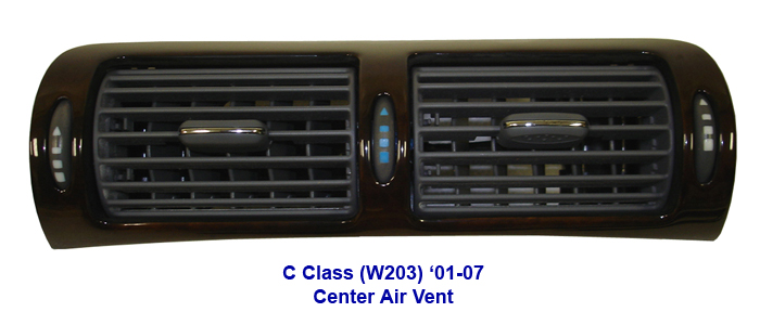 C Class (W203) Lamination Burlwood-Center Air Vent-2-done-700