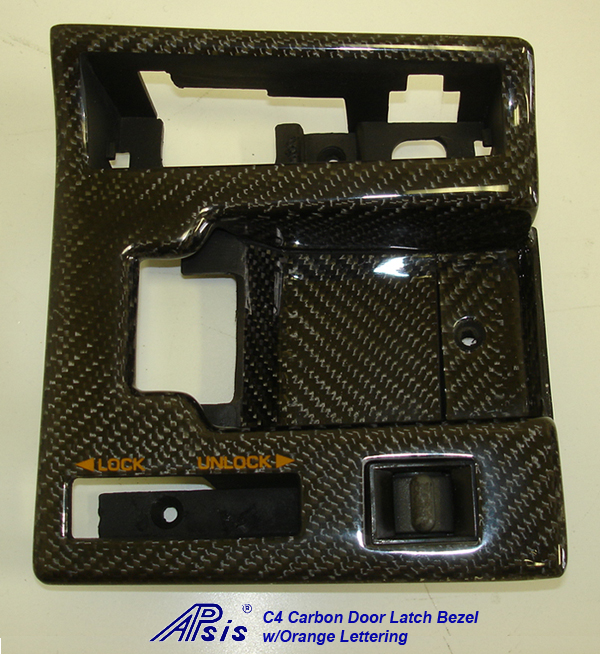 C4 CF Door Latch Bezel w-orange lettering-individual-2