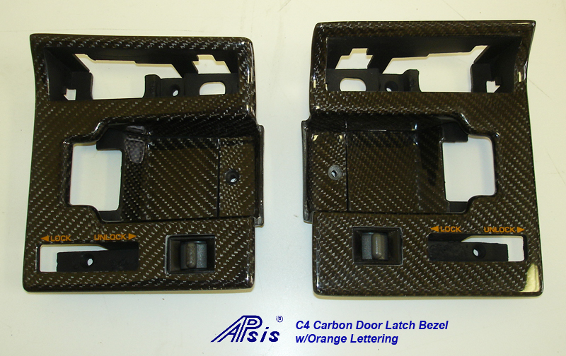 C4 CF Door Latch Bezel w-orange lettering-pair-2