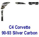 C4 Corvette 90-93 -Silver CF- 150