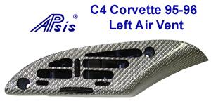 C4 Corvette-Silver CF-Left Air Vent-300