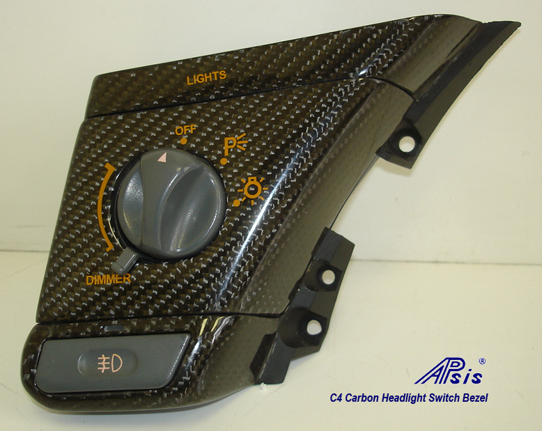 C4 Headlight Switch Bezel-CF-1