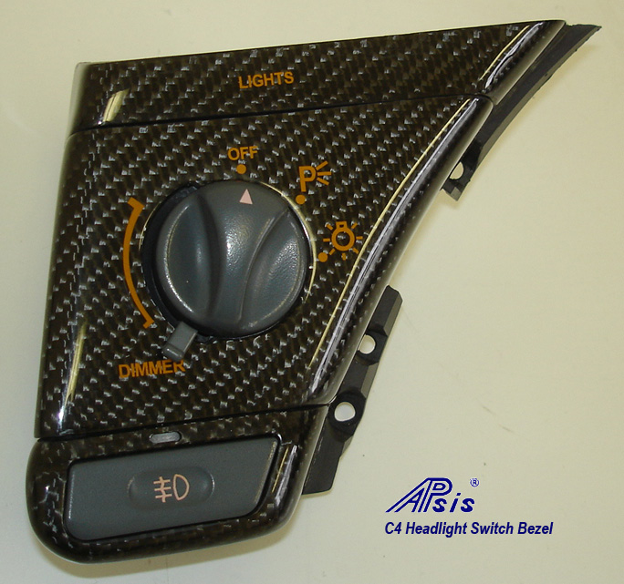 C4 Headlight Switch Bezel-CF-2
