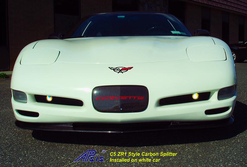 C5 CF Splitter-installed on white car-4