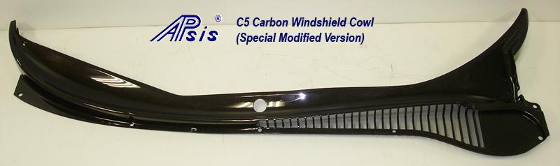 C5 CF Windshield Cowl-modified no bumps-full view-1