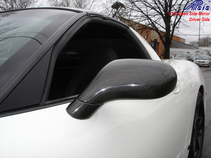 C5 Carbon Side Mirror-installed-driver-outdoor-1