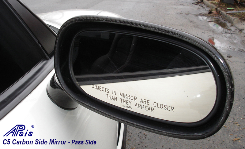 C5 Carbon Side Mirror-installed-from mirror side-pass-outdoor-2