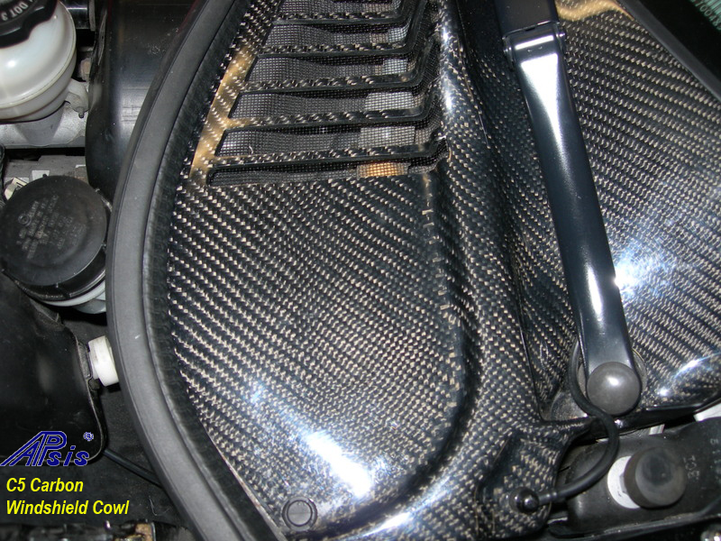 C5 Carbon Windshield Cowl-installed-1
