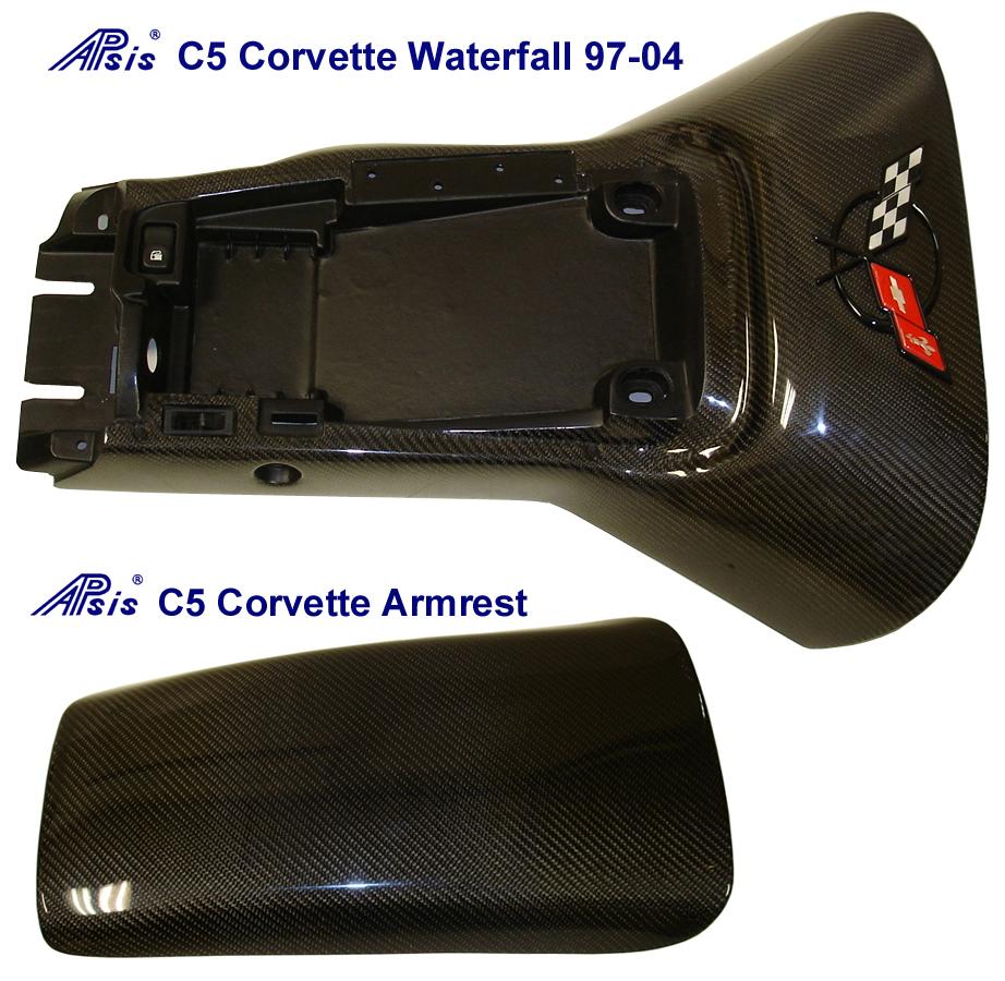 C5 Corvette Black CF - Waterfall & Armrest-740