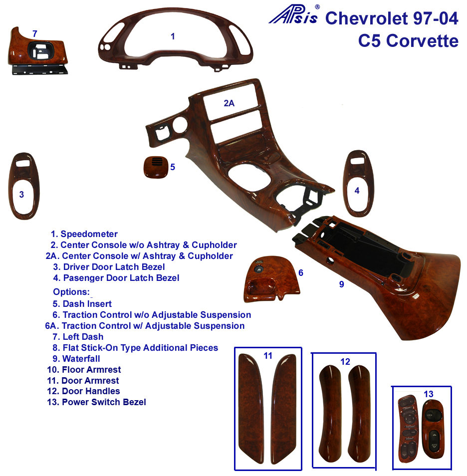 C5 Corvette Lamination Burl - Diagram - 768