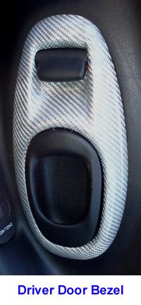 C5 Corvette Silver CF-install-Driver Door Bezel - 200