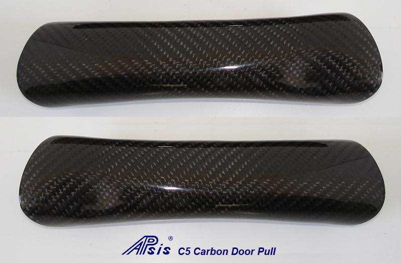 C5 Door Pull-carbon-4 pair