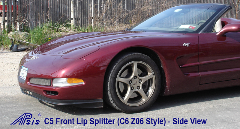 C5 Front Lip Splitter - C6 Z06 Style 97-04 - Side View
