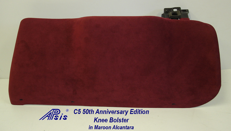 C5 Knee Bolster-maroon alcantara-1