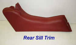 C5 Rear Sill Trim-cobalt red w-red stitching-individual-1 250