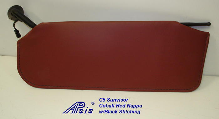 C5 Sunvisor-cobalt red nappa-individual-1
