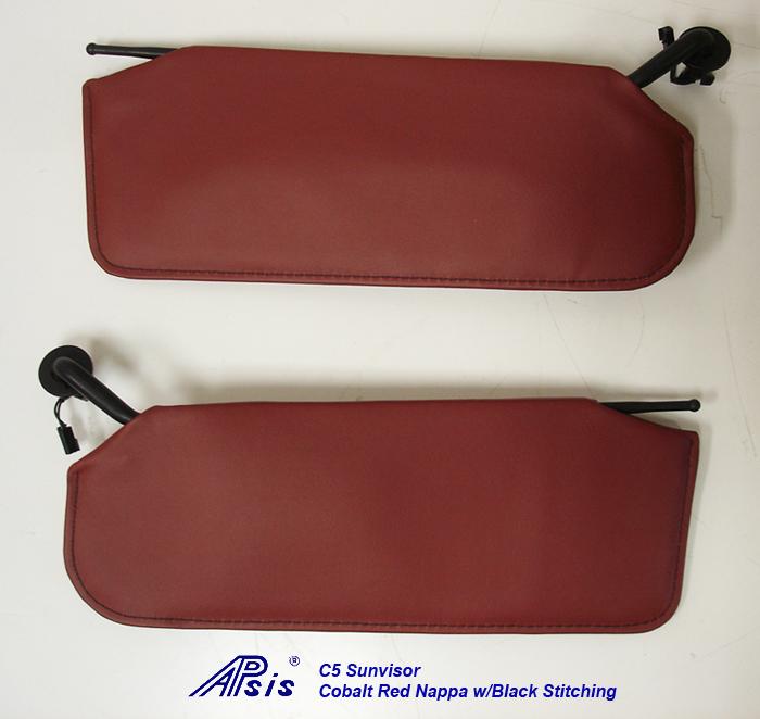 C5 Sunvisor-cobalt red nappa-pair-1