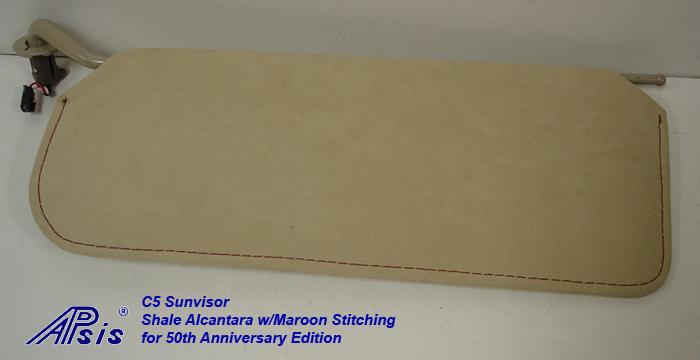C5 Sunvisor-shale alcantara w-maroon stitching-individual-2