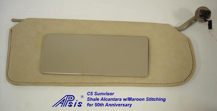 C5 Sunvisor-shale alcantara w-maroon stitching-individual-3