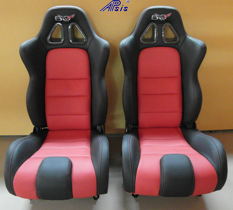 C5 SuperDeluxe Seat-ebony+perf torch red w-carbon w-50th anniversary logo-jean-1