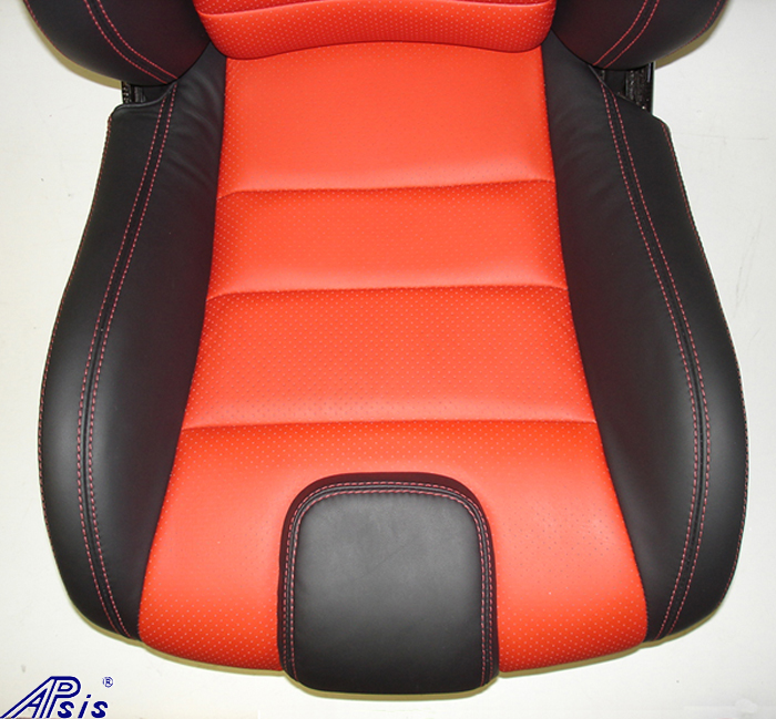 C5 SuperDeluxe Seat w-CF-ebony+perf torch red-botton only-2-better