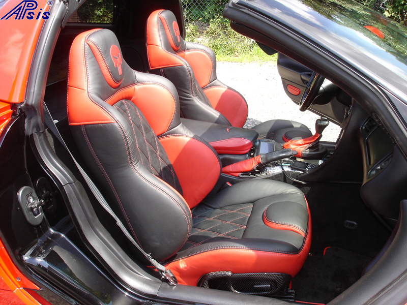 C5 UltraDeluxe Seat EB+TR+AL w-double diamond stitching-installed-pass-1