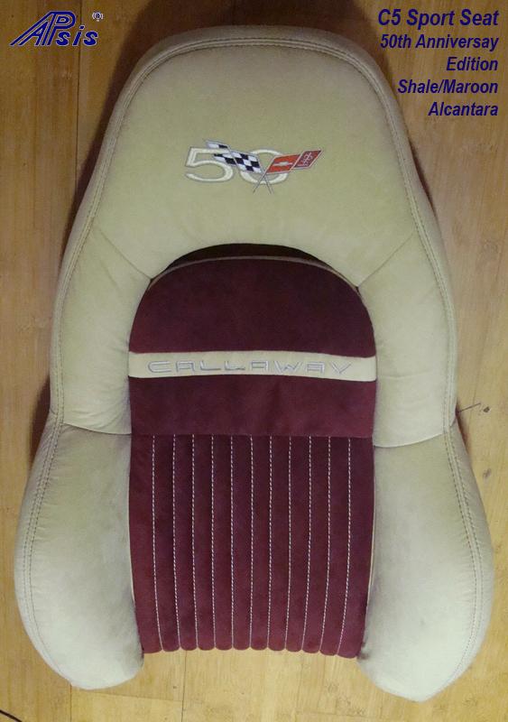 C5 Z06 Sport Seat-shale alan + maroon alcan-upper only-1