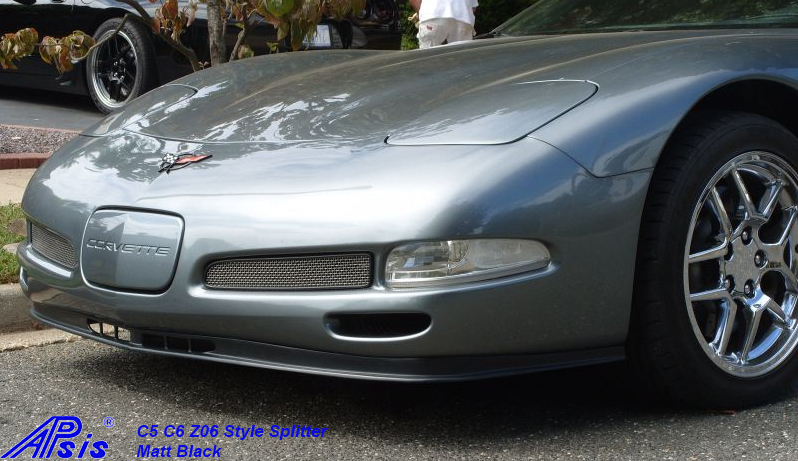 C5 Z06 Style Splitter-installed on gray car-1