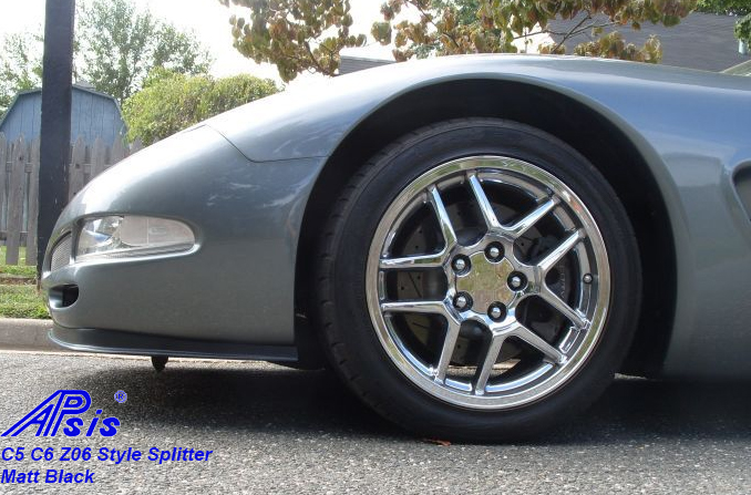 C5 Z06 Style Splitter-installed on gray car-2
