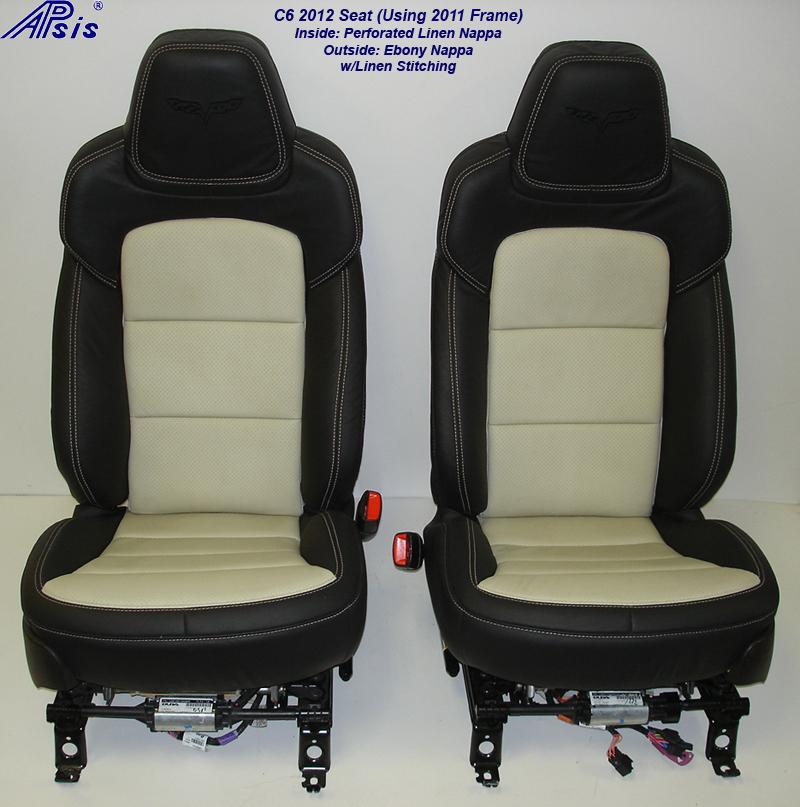 C6 2012 Seat-ebony+linen-pair-front view-2