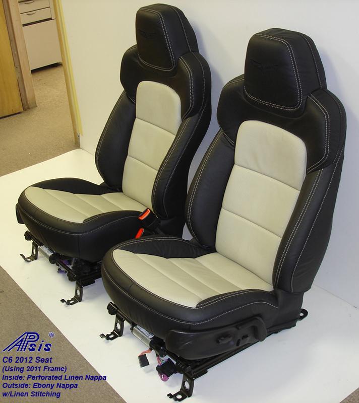 C6 2012 Seat-ebony+linen-pair-side view-4