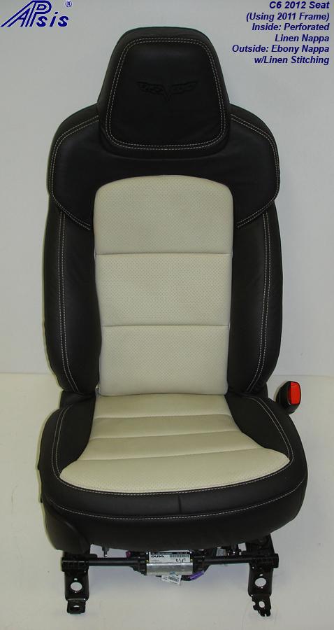C6 2012 Seat-ebony+linen-pass-front view-1