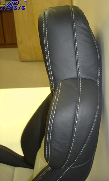 C6 2012 Seat-ebony+linen-upper only-side view-3