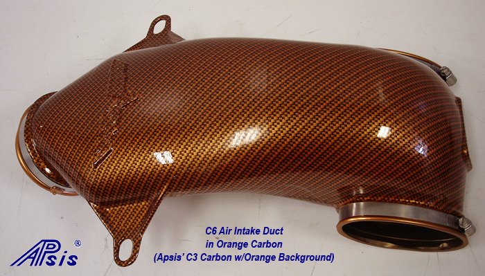 C6 Air Intake Duct-C1 carbon w-orange background-1