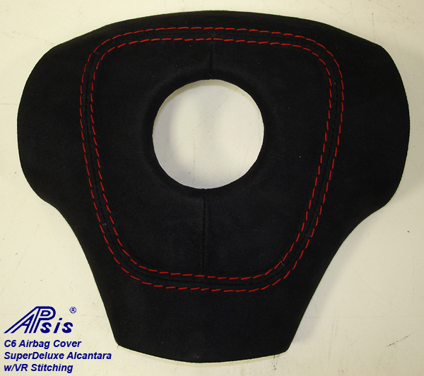 C6 Airbag Cover-alcantara w-vr stitching-2