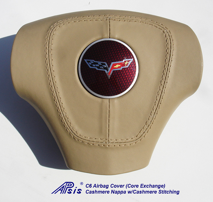 C6 Airbag Cover-cashmere w-cashmere stitching-core exchange-1