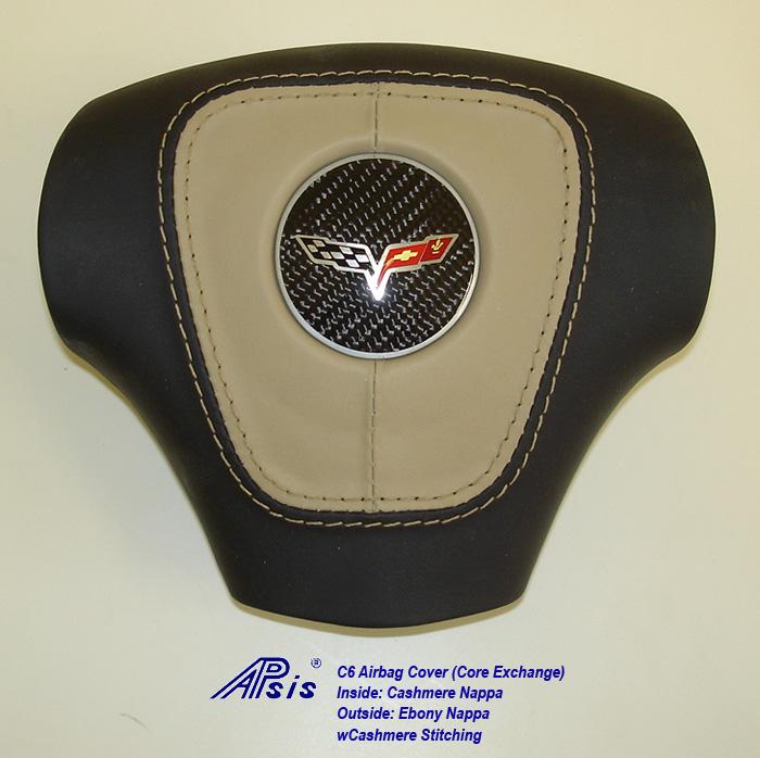 C6 Airbag Cover-core exchange-EB+CA w-cash stitching-1