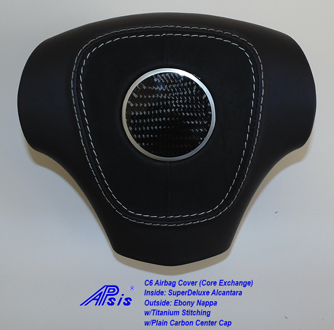 C6 Airbag Cover-core exchange-EB+SA w-titanium stitching-1