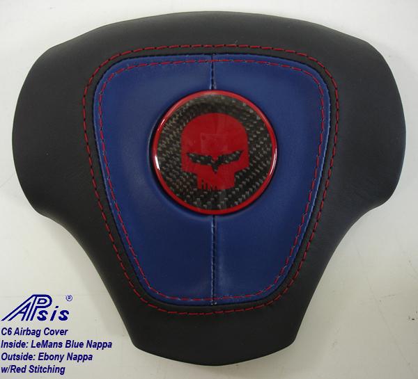 C6 Airbag Cover-eb+lmb w-red stitching-1