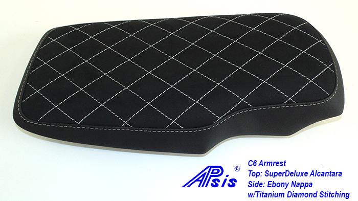 C6 Armrest-EB+SA w-diamond titanium stitching-2