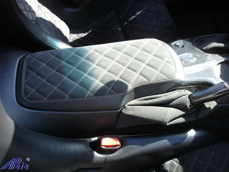 C6 Armrest-callaway style-eb+charcoal alcantara w-vy stitching-installed-2
