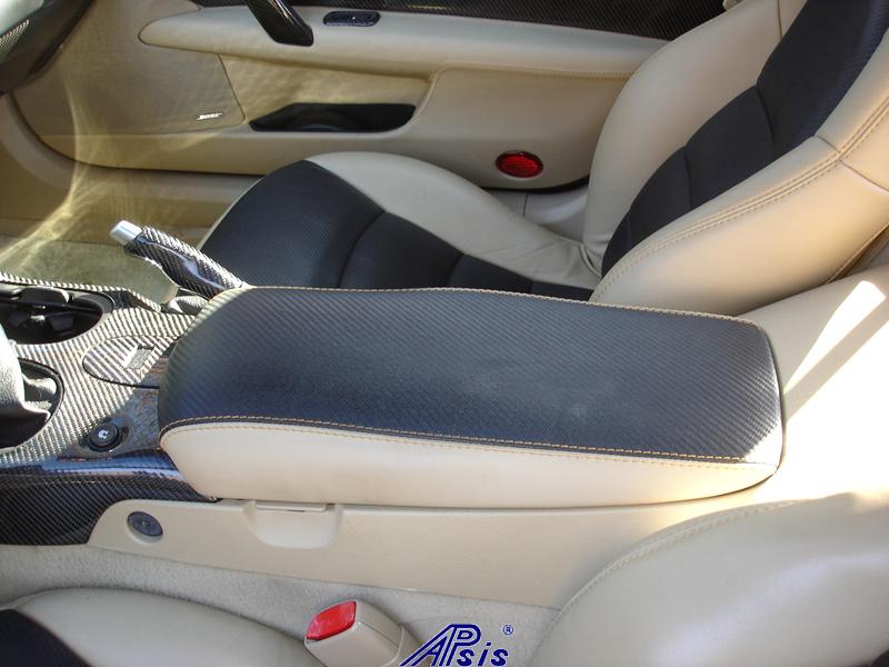 C6 Armrest-carbon leather+cashmere w-cashmere stitching-1