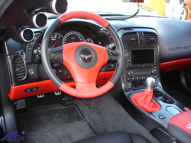 C6 Black CF whole interior-installed-left view-2