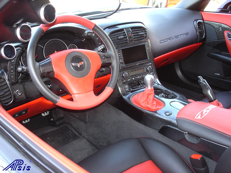 C6 Black CF whole interior-installed-left view-3-best