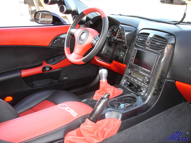 C6 Black CF whole interior-installed-right view-1