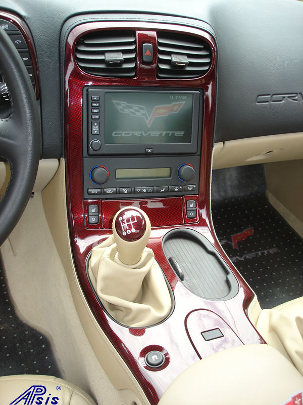 C6 C5R CF whole interior-installed-show center console-1