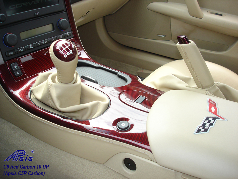 C6 C5R CF whole interior-installed-show center console lower section-2