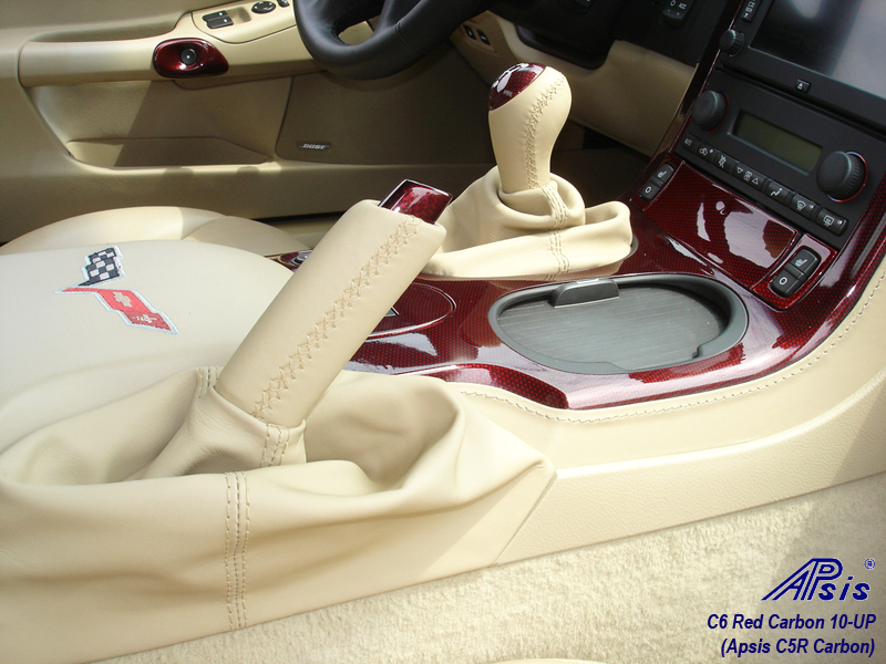 C6 C5R CF whole interior-installed-show center console lower section-3